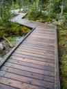 Wooden boardwalk at Morraine Lake, Banff National Park Royalty Free Stock Photo