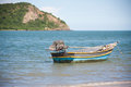 Wooden boat in the sea and blue sky thailand Stock Photo