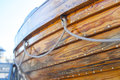 Wooden boat side of a Royalty Free Stock Images