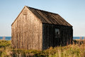 Wooden boathouse situated in northumberland uk Stock Images