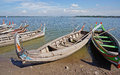 The wooden boats in lake Royalty Free Stock Photo