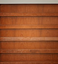 Wooden book shelf Royalty Free Stock Photos