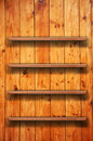 Wooden book shelf Stock Images