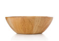 Wooden bowl isolated Royalty Free Stock Photo