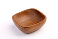 Wooden bowl made by Teak isolated on white background Royalty Free Stock Photo