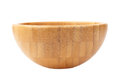 Wooden bowl on white background Royalty Free Stock Photo