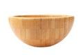 Wooden bowl on white background Royalty Free Stock Photo