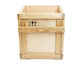 Wooden box Stock Image
