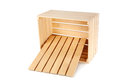 Wooden box isolated on a white Royalty Free Stock Image