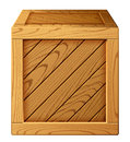 Wooden box vector illustration of icon Royalty Free Stock Photography