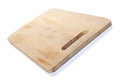 Wooden bread board on white background Royalty Free Stock Photo