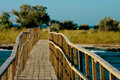 Wooden bridge Stock Photos