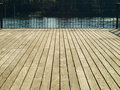 Wooden bridge with fence beautiful natural floor and Royalty Free Stock Images