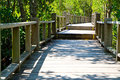 Wooden bridge and forest Royalty Free Stock Image