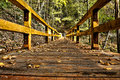 Wooden Bridge HDR Stock Photography