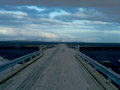 Wooden bridge iceland in southern region of Stock Photo