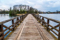 Wooden Bridge on Lake Royalty Free Stock Photo