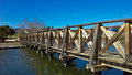 Wooden Bridge On The Lake Of The Ducks Royalty Free Stock Photo