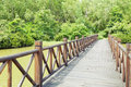Wooden wood bridge Royalty Free Stock Photo