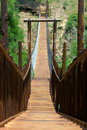 Wooden bridge in park Royalty Free Stock Photography
