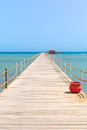 Wooden bridge on the red sea egypt Stock Photography
