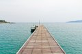 Wooden bridge walk way to sea Royalty Free Stock Photography