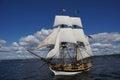 The wooden brig, Lady Washington Royalty Free Stock Images