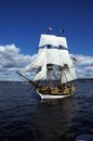 The wooden brig, Lady Washington Royalty Free Stock Image