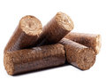 Wooden briquettes Royalty Free Stock Photo