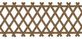 Wooden brown trellis-work fence Royalty Free Stock Photo