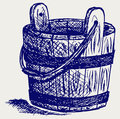 Wooden bucket Stock Photos