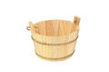 Wooden bucket isolated on white Stock Images