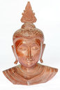 Wooden buddha sculpture Royalty Free Stock Photos
