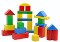 Wooden building blocks Royalty Free Stock Photo