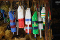 Wooden Buoys Key West Royalty Free Stock Images