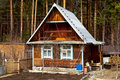Wooden cabin Royalty Free Stock Images