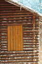 Wooden cabin a close up picture of Stock Images