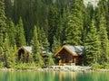 Wooden cabins at lake o hara yoho national park canada british columbia Stock Image
