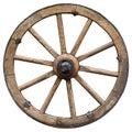 Wooden  cartoon style wheel isolated on white background Royalty Free Stock Photo