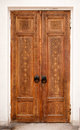 Wooden carved door Royalty Free Stock Photo