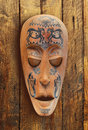 Wooden carved ritual statue Royalty Free Stock Photo