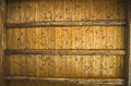 Wooden ceiling background texture of made out of beams Stock Photo