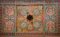 Wooden ceiling, oriental ornaments from Khiva Royalty Free Stock Photos