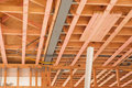 Wooden ceilings, building homes in New Zealand Royalty Free Stock Photo