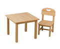 Wooden chair and desk for kid Royalty Free Stock Photography