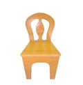 Wooden chair iv over white background Royalty Free Stock Photos