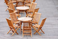 Wooden Chair & Table Royalty Free Stock Photo