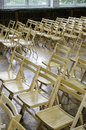 Wooden chairs in the conference room or at school Royalty Free Stock Photo