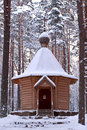 Wooden chapel. Royalty Free Stock Photos