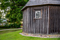 Wooden chapel on Kernave mound Royalty Free Stock Photo